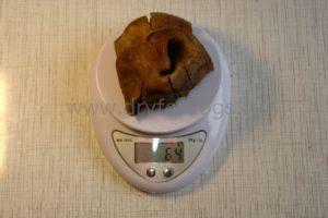 Говяжьи носы и губы сушеные 64 грамма
